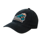 Black OttoFlex Unstructured Low Profile Hat-Official Logo