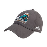 Adidas Charcoal Slouch Unstructured Low Profile Hat-Official Logo