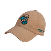 Khaki Twill Unstructured Low Profile Hat-Chanticleer Head