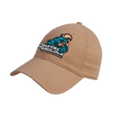 Khaki Twill Unstructured Low Profile Hat-Official Logo