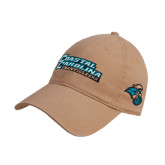Khaki Twill Unstructured Low Profile Hat-Coastal Carolina Chanticleers