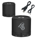 Wireless HD Bluetooth Black Round Speaker-Chanticleer Head Engraved