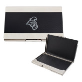 Bey Berk Carbon Fiber Business Card Holder-Chanticleer Head Engraved