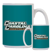 Full Color White Mug 15oz-Coastal Carolina Chanticleers