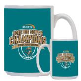 Full Color White Mug 15oz-Big South Basketball Champions 2015