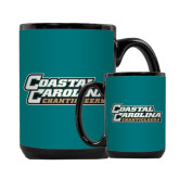 Full Color Black Mug 15oz-Coastal Carolina Chanticleers