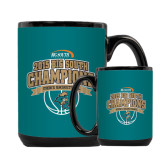 Full Color Black Mug 15oz-Big South Basketball Champions 2015