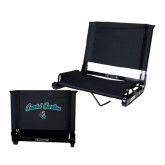 Stadium Chair Black-Coastal Carolina Arched