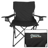 Deluxe Black Captains Chair-Coastal Carolina Chanticleers