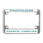 Metal Motorcycle License Plate Frame in Chrome-Chanticleers
