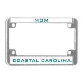 Metal Motorcycle License Plate Frame in Chrome-Mom