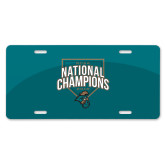 License Plate-2016 NCAA National Champions Baseball