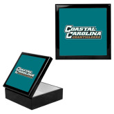 Ebony Black Accessory Box With 6 x 6 Tile-Coastal Carolina Chanticleers