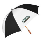 62 Inch Black/White Umbrella-Coastal Carolina Chanticleers