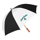 62 Inch Black/White Umbrella-Coastal Carolina Arched