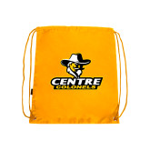Nylon Gold Drawstring Backpack-Primary Logo