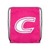 Pink Drawstring Backpack-C Primary Mark