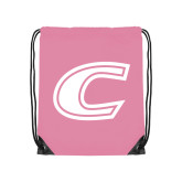 Light Pink Drawstring Backpack-C Primary Mark