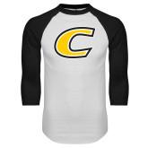 White/Black Raglan Baseball T Shirt-C Primary Mark