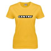 Ladies Gold T Shirt-Centre