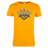 Ladies Gold T Shirt-2017 Homecoming