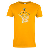Ladies Gold T Shirt-Colonels vs Cats