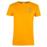 Ladies Gold T Shirt-C Primary Mark