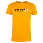 Ladies Gold T Shirt-Colonels Two Color