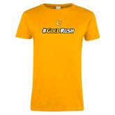 Ladies Gold T Shirt-#GoldRush