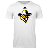 Adidas Climalite White Ultimate Performance Tee-Colonel Head