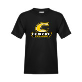 Youth Black T Shirt-C with Centre College