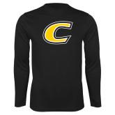 Performance Black Longsleeve Shirt-C Primary Mark