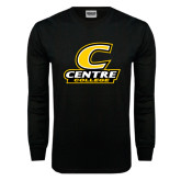 Black Long Sleeve TShirt-C with Centre College