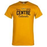Gold T Shirt-Since 1819 Centre Colonels