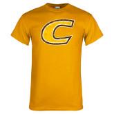 Gold T Shirt-Centre Colonels Wordmark Distresses