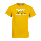 Gold T Shirt-Track and Field Lanes