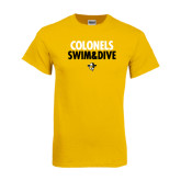 Gold T Shirt-Swim and Dive Stacked