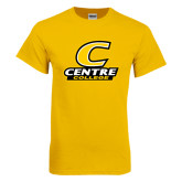Gold T Shirt-C with Centre College