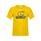 Youth Gold T Shirt-C with Centre College