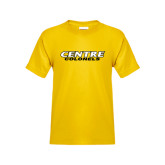 Youth Gold T Shirt-Centre Colonels