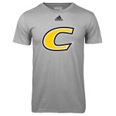 Adidas Climalite Sport Grey Ultimate Performance Tee-C Primary Mark