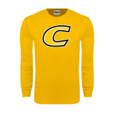 Gold Long Sleeve T Shirt-C