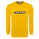 Gold Long Sleeve T Shirt-Centre