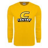 Gold Long Sleeve T Shirt-C with Centre College