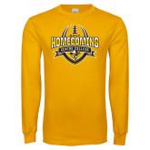 Gold Long Sleeve T Shirt-2017 Homecoming