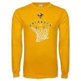 Gold Long Sleeve T Shirt-Colonels vs Cats