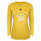 Ladies Syntrel Performance Gold Longsleeve Shirt-Colonels vs Cats