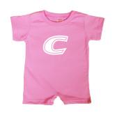 Bubble Gum Pink Infant Romper-C