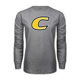 Grey Long Sleeve T Shirt-C