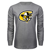 Grey Long Sleeve T Shirt-C with Colonel Head